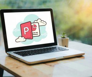 image logo powerpoint sur un ordinateur